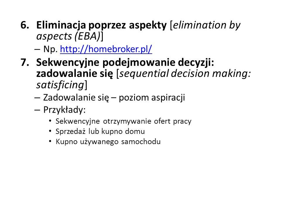 Eliminacja poprzez aspekty [elimination by aspects (EBA)]